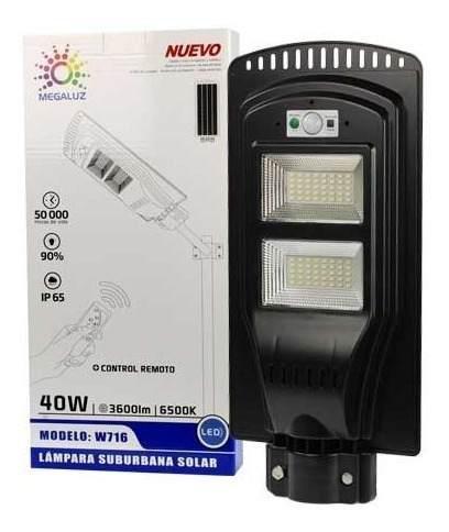 Lampara Solar Suburbana 40w 80 Leds Sensor De Luz Movimiento