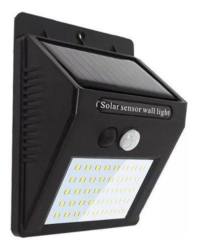 Lámpara Solar 40 Leds Exterior Sensor Movimiento