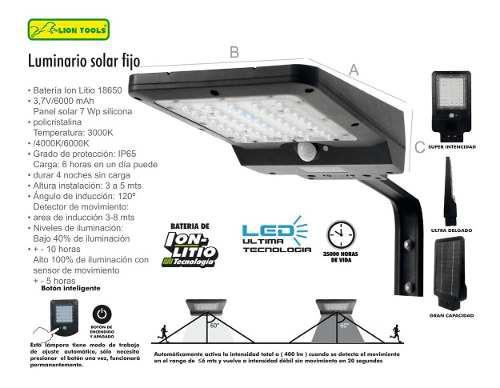 Lámpara Solar Grande Led 850 Lm Alumbrado Publico Poste