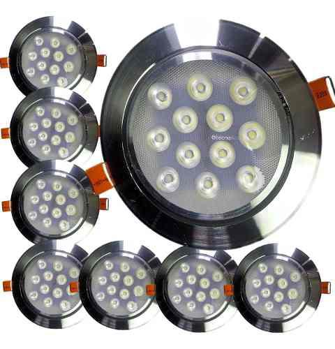 Mayoreo 10 Spot Led 12w Dirigibles Panel Luces Casa Oficina