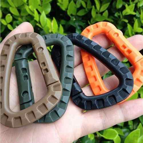 Mosqueton Tactico Plástico Sistema Molle Set De 4 Piezas