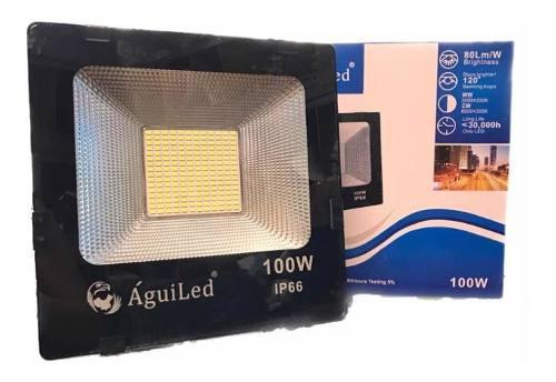 Reflector Led 100w Slim Luz Blanca P/ Exterior 110-220 V