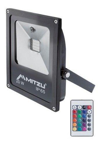 Reflector Led Rgb 20w Exterior Control Remoto Soporte 180