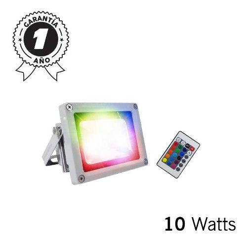 Reflector Led Rgb Multicolor Intemperie 10w 120-240v Duxled
