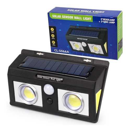 Reflector Solar De Pared 2 Leds Cob 1000 Lumens Sensor Movim