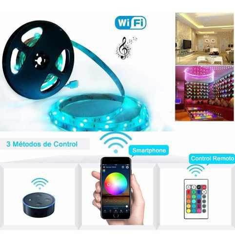 Tira Led Rgb Wifi Strip Light Usb 5m 300 Led Glückluz