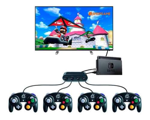 Adaptador De Control Game Cube Para Pc, Wiiu Y Swich Smash