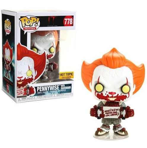 Funko Rodk Pop Pennywise With Skateboard Cap 2 Hot Topic 778