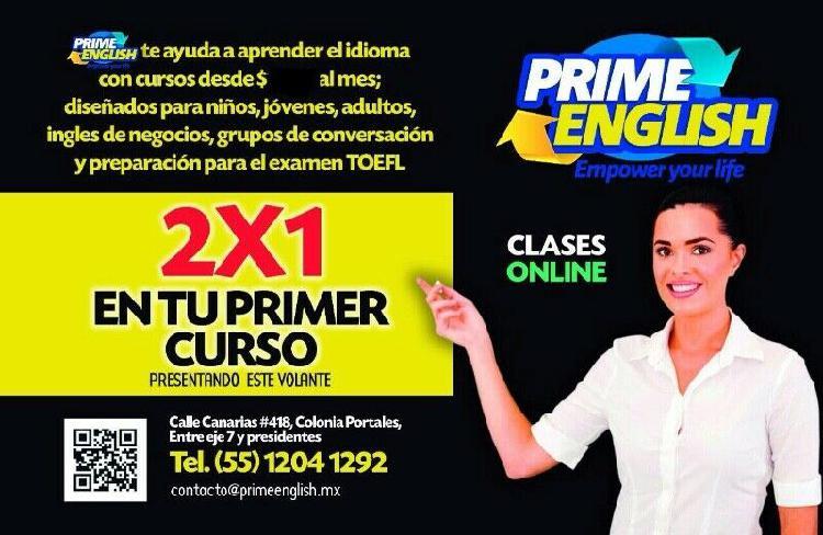 Prime English Mx,Clases de Ingles y Francés y otros idiomas