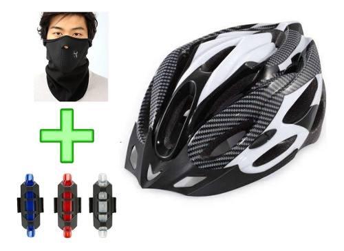 Casco Deportivo Bicicleta Ajustable Adulto Unisex Luz Traser