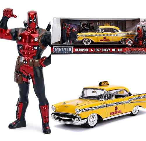 Chevrolet Bel Air  Taxi Deadpool Fig 1:24 Jada Met Pla