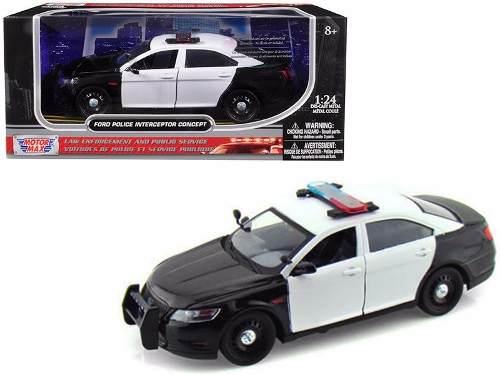 Ford Interceptor Police  Luz Y Sonido Motor Max 1:24