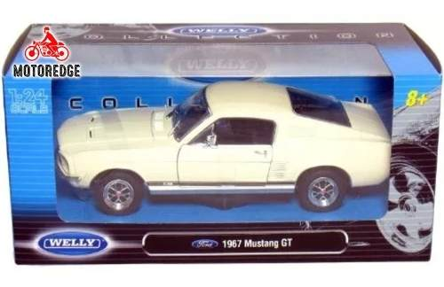 Ford Mustang Gt  Blanco Clasico Welly Escala 1/24 Oferta