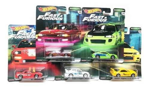 Hot Wheels 1/64 Fast And Furious Premium  Serie 5 Pzas