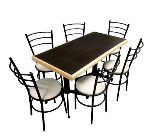 Mesa Rectangular Para 6 Personas Restaurante Y Cafeterías