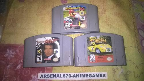 Nintendo 64 Mario Kart Golden Eye Beetle Adventure R B N64