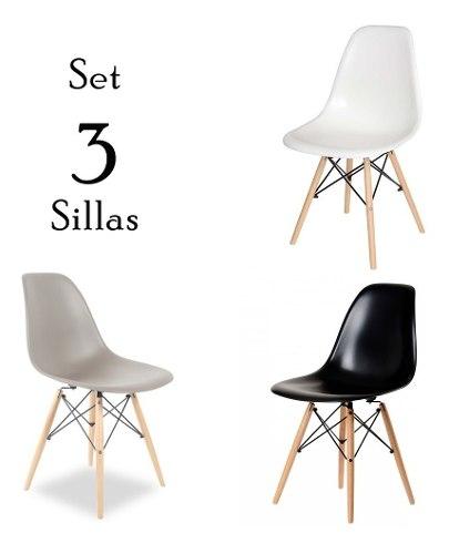 Set De 3 Sillas Eames - Excelente Calidad!!