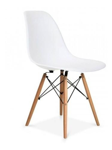 Silla Eames S/brazo Elegante Y Moderna! Blanca