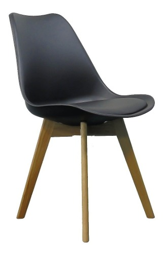 Silla Eames Sillas De Madera Minimalist Moderna Noa Negro