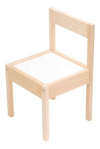 Silla Mini Infantil Montessori Nordico Madera De Álamo Kit