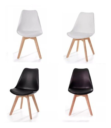 Silla Moderna Minimalista Madera (6 Piezas) Eames