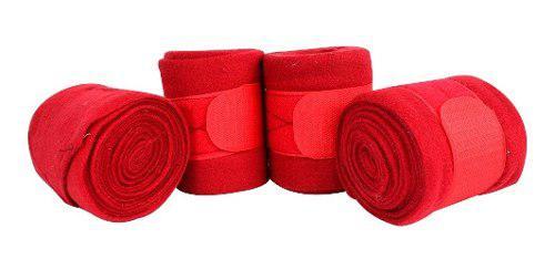 Vendas Finas Para Caballo 4 Piezas Rojo Fuerte