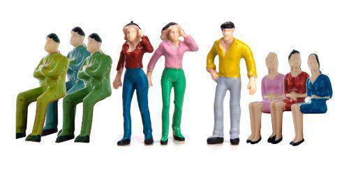 50 Modelo Gente Personas Figuras Pintada A Mano Tren
