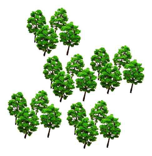 50 Unids Árbol Verde 8 Cm Modelo N Escala Diseño Tren