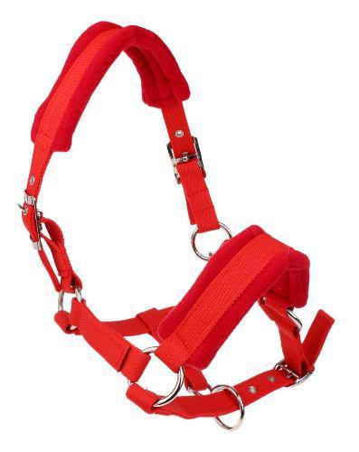 Cabezada Para Caballo Cuello Ajustable Color Rojo