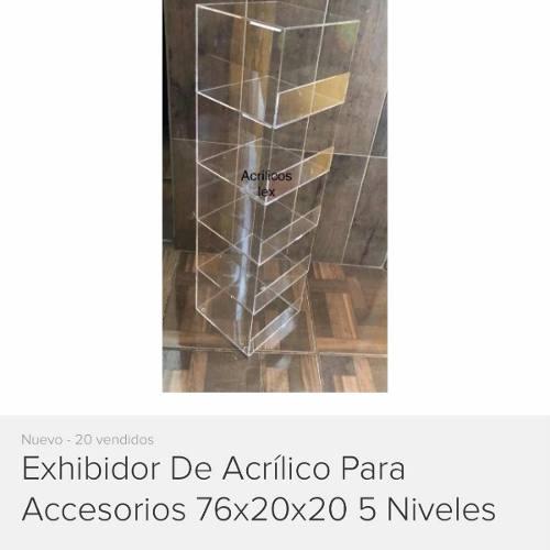 Exhibidor De Acrílico Con Puerta Y Chapa