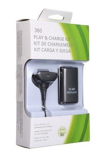 Kit Carga Y Juega Control Xbox 360 Cable + Batería  Mah