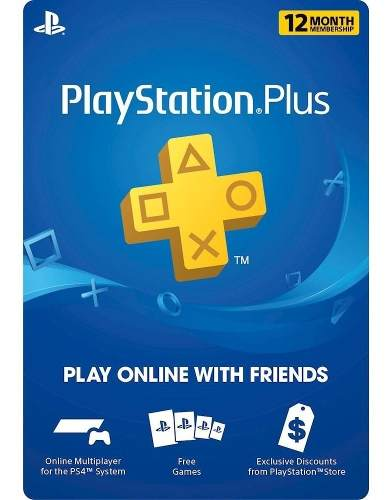 Ps Plus Playstation Plus 12 Meses Multi-region Ps4 Ps3 Vita
