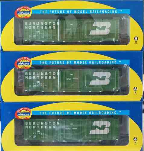 Set De 3 Furgones Athearn Burlington Northern Escala Ho.