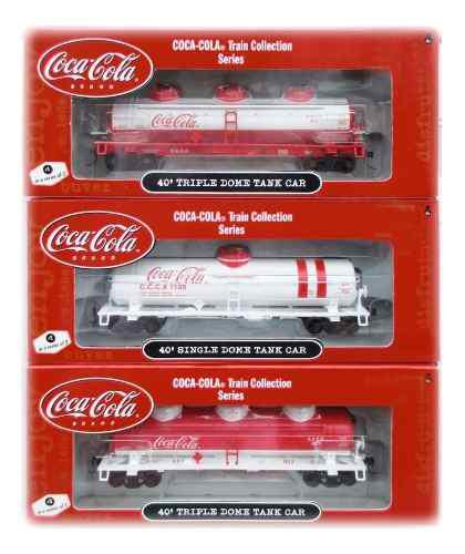 Set De 3 Vagones Cisternas Athearn De Coca Cola Escala Ho