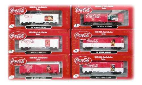 Set De 6 Furgones Athearn Coca Cola Escala Ho