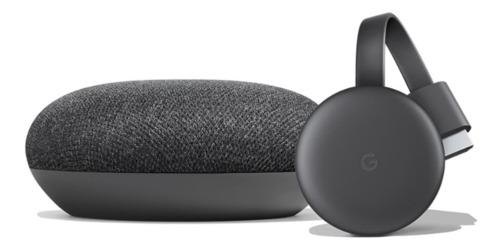Smart Tv Kit Chromecast  Y Home Mini Gris Oscuro