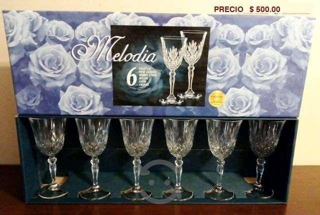 Copas de Cristal set de 6 piezas