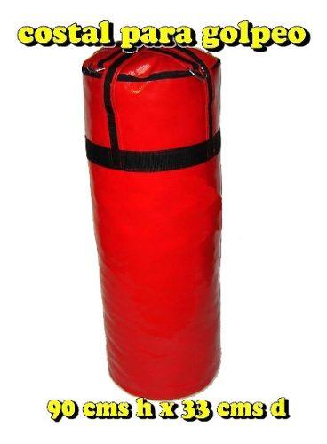 Costal 90cms Grande Vacío Golpeo Boxeo, Karate, Tae Kwondo.