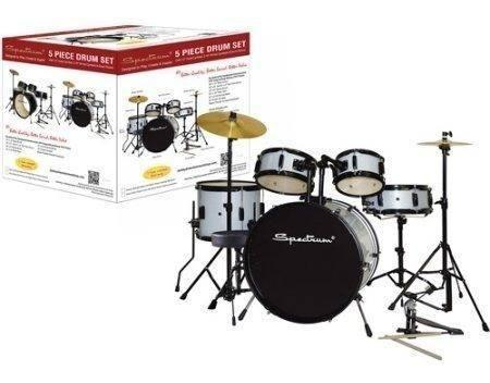 Espectro Ail 674s 5-piece Drum Set Completo Con Drum Stool 2