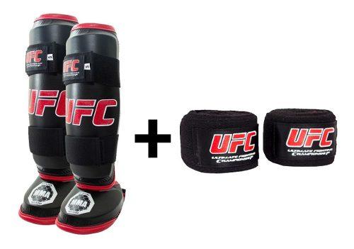 Espinilleras + Vendas Ufc Para Mma Muay Thai Kick Boxing