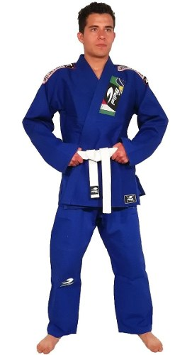 Gi Kimono Fire Sports Azul Adulto Jiu Jitsu Brasileño 550gr