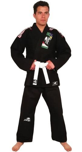 Gi Kimono Fire Sports Negro Adulto Jiu Jitsu Brasileño