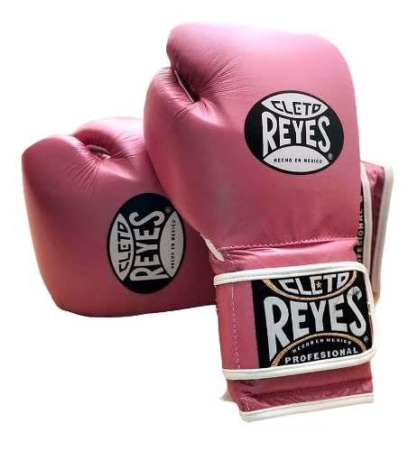 Guante Cleto Reyes Piel Res Cierre De Contacto Rosa 12 Oz