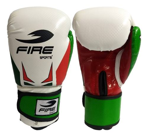 Guantes De Box Muay Thai Fire Sports 12oz O 14oz Tricolor