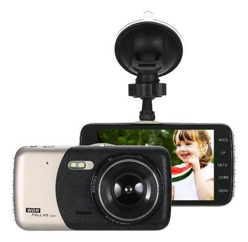 Kkmoon 4 Dual Lente Coche Dvr Dash Cam Cámara Videocámara