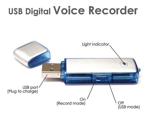 Microfono Espia Usb Spy Grabadora Voz 8gb Duracion 19 Horas