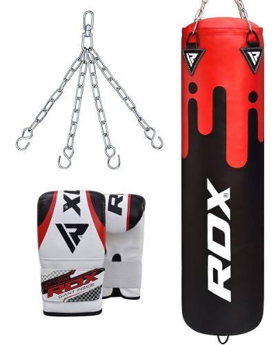 Rdx Boxeo Pesado Saco Arena,guantes,cadena Mma Entrenam 1.5m