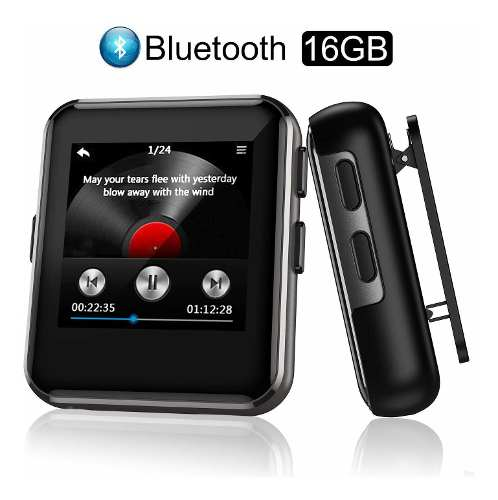 Reproductor Mp3 Bluetooth Portátil 16 Gb Para Deportes