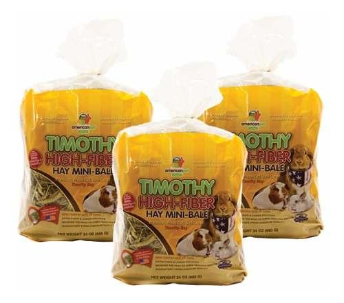 3 Pack Heno Timothy American Alta Fibra, El Mejor Para Tu