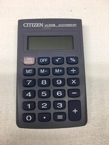 Calculadora Electrónica De Bolsillo Citizen Lc-310iii 8 Dig